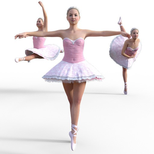 Figure drawing poses of a skinny white girl in a ballet dress