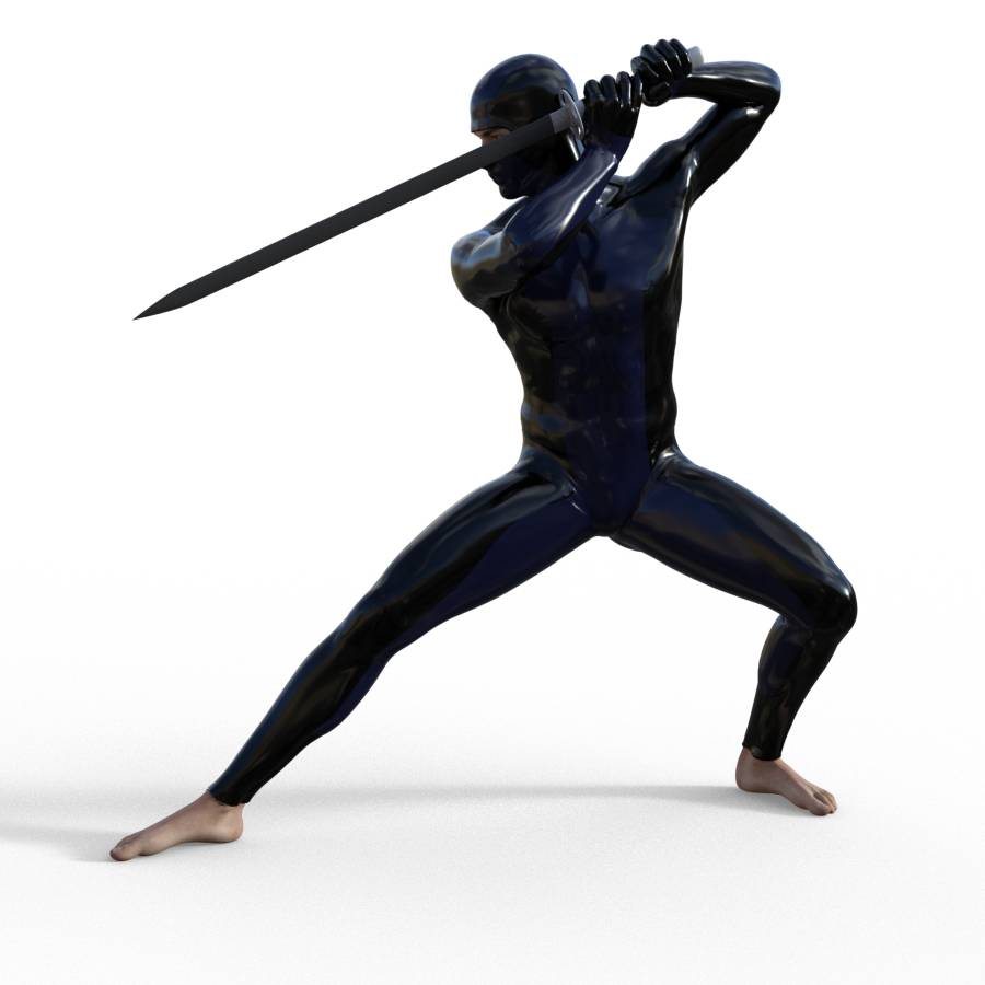 Figure Drawing Pose Of Male Action Kneeling Fighting Standing And Sword Figurosity