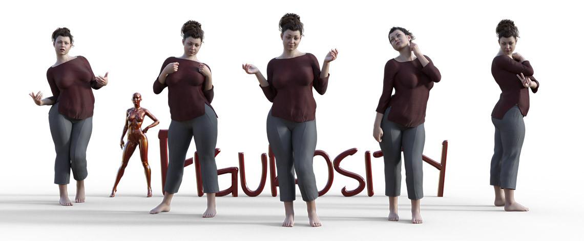 Standing, posing, living large poses