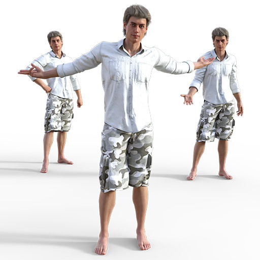 Figure drawing poses of a white man in casual clothes