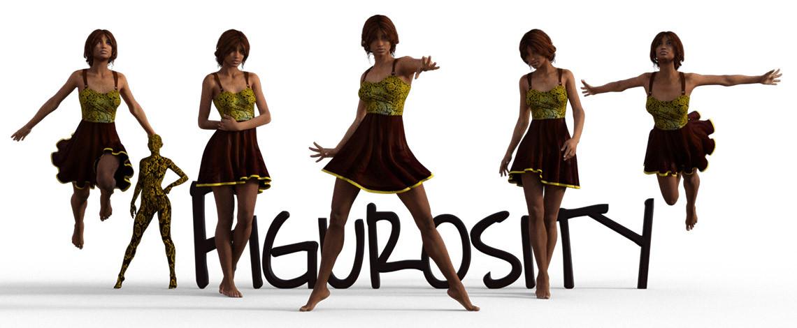 Cara's Summer Dress poses