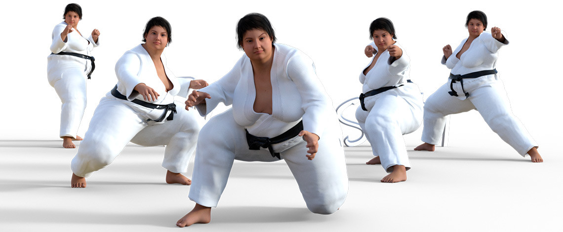 Elizabeth's Martial Arts Poses poses