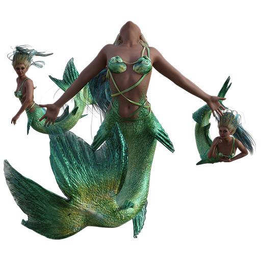 Figure drawing poses of mermaids for #Mermay