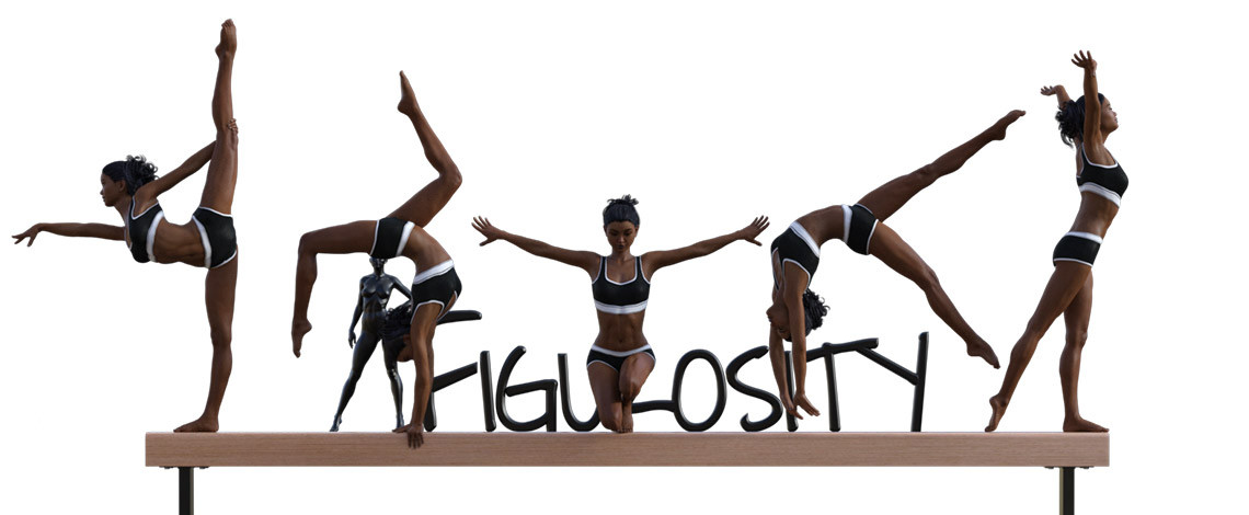 Gymnastic Balance Beam Poses poses