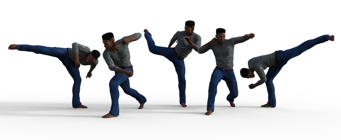 Titan's fighting poses poses