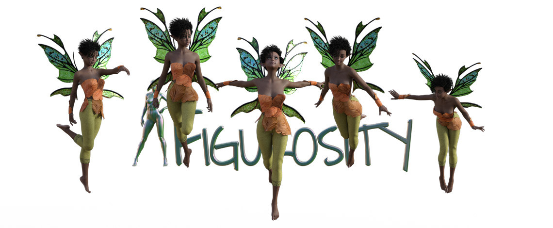 Fast Flying Faerie  poses